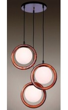 Pendant Light Wooden 6692-3P
