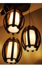 Pendant Light Wooden 7389-3P